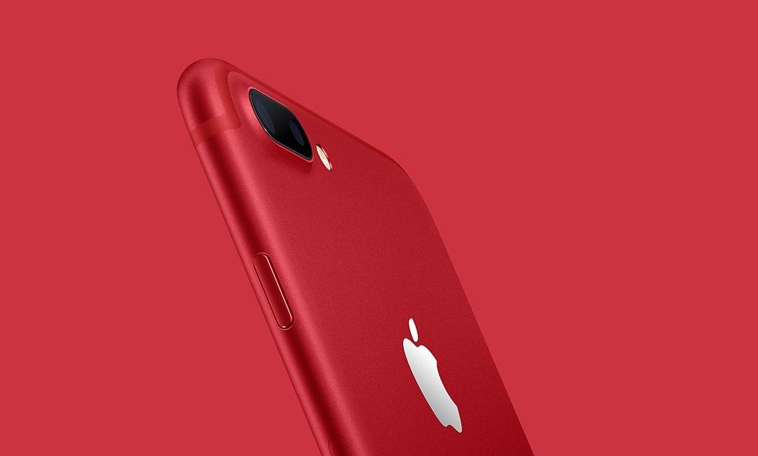 De rode iPhone 7 van Apple