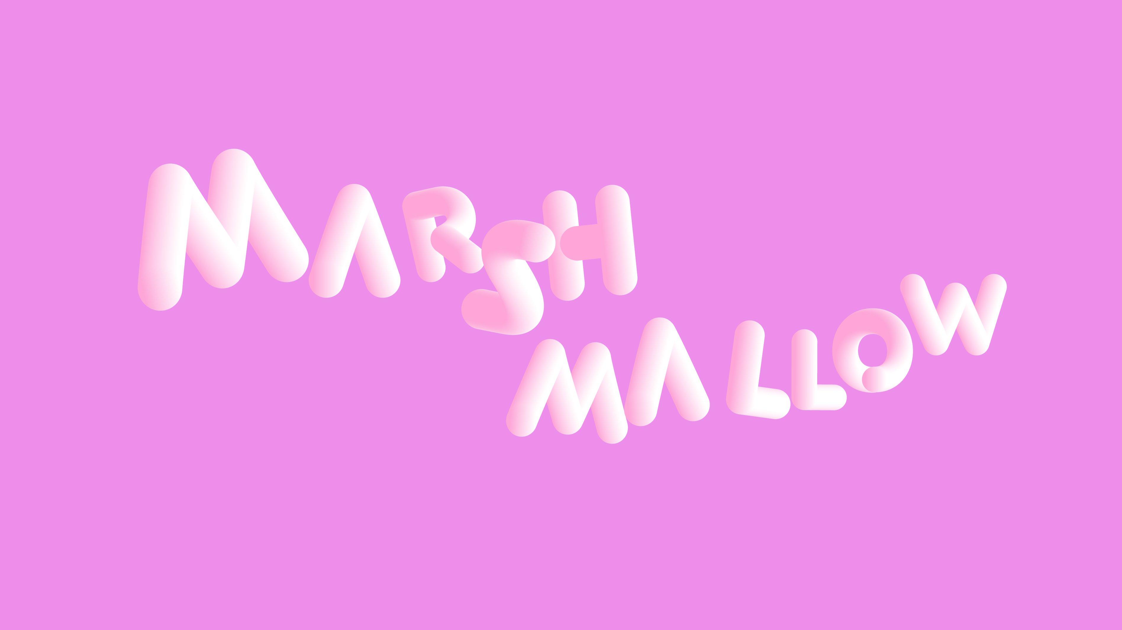 MARSHMALLOW SOFTA lettertype